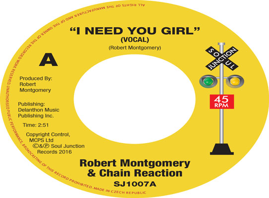 Robert Montgomery & Chain Reaction - I Need You Girl