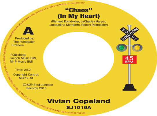 Vivian Copeland Chaos (In my Heart) b/w The Poindexter Brothers