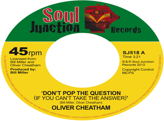Oliver Cheatham - Don't Pop The Question