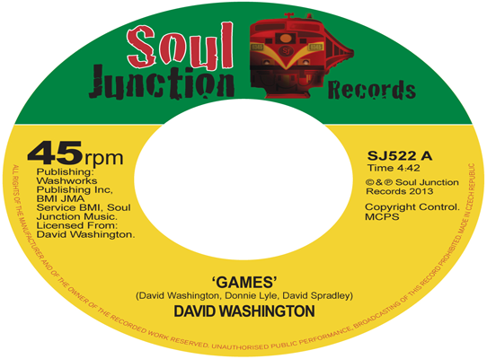 David Washington - Games/Ready For Your Love
