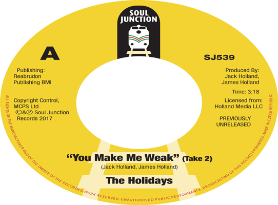 The Holidays - You Make Me Weak (Take 2)